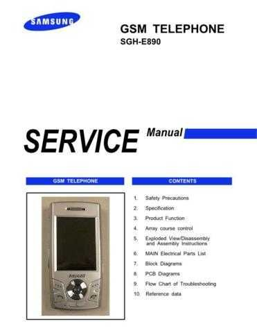 Samsung SGH-E890 Mobile Phone Service Manual by download Mauritron #306355