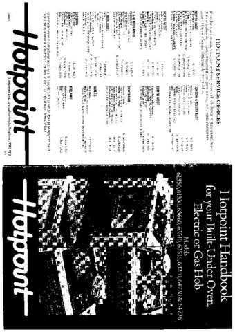 Hotpoint HB61330(3) Operating Guide by download Mauritron #312012