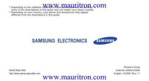 Samsung SGH-D600 User Guide by download Mauritron #306305