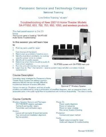 Panasonic SA-AX730 Manual by download Mauritron #301678