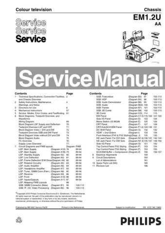 Philips EM1.2U AA Chassis Service Manual by download Mauritron #306179