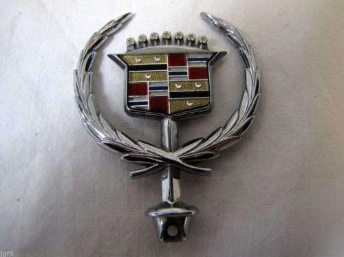 Cadillac Eldorado DeVille Brougham auto automobile hood ornament emblem chrome
