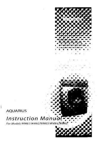 Aquarius WM61 Washing Machine Operating Guide by download Mauritron #306007