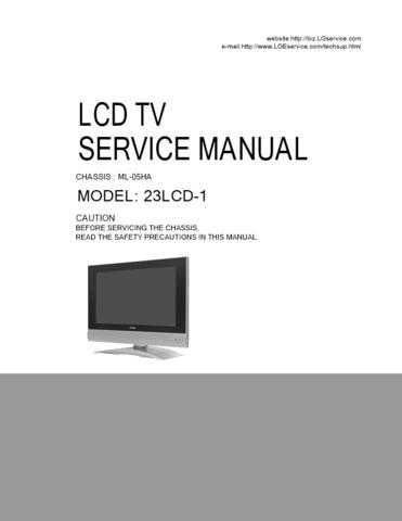 LG H23LCD-1MB CDC-2183 Manual by download Mauritron #304726