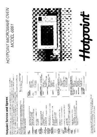 Hotpoint 6661 Microwave Oven Operating Guide by download Mauritron #309920