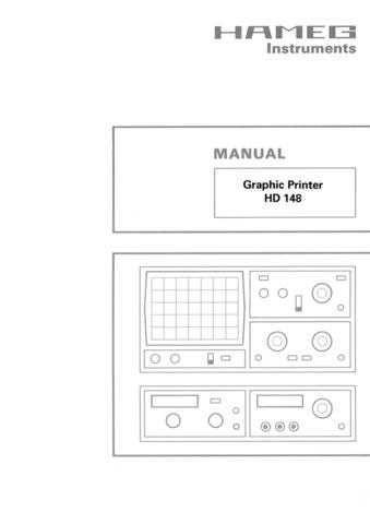 Hameg HD148 D EN Operating Guide by download Mauritron #307127