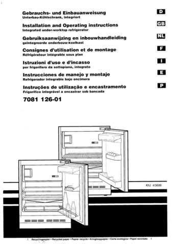 Hotpoint BT40 Refrigeration Operating Guide by download Mauritron #313532