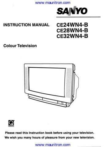 Sanyo CE28WN4B Operating (2) Manual by download Mauritron #312596