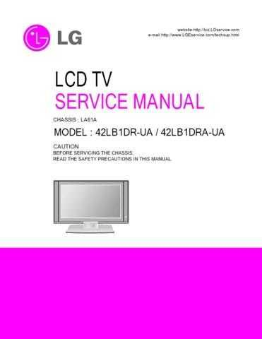 LG 38289S0043Y_42LB1DR(A)-UA Manual by download Mauritron #303742
