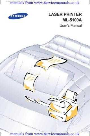 MANUAL Samsung ML5100A User Guide in English by download Mauritron #306105