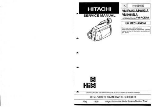 Hitachi VM3800A1 Service Manual by download Mauritron #290988
