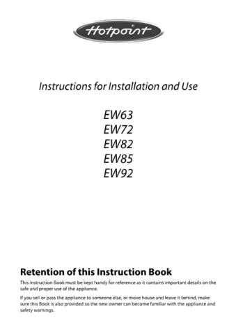 Hotpoint EW74 EW75 19505635000 Cooking Operating Guide by download Mauritron #313591