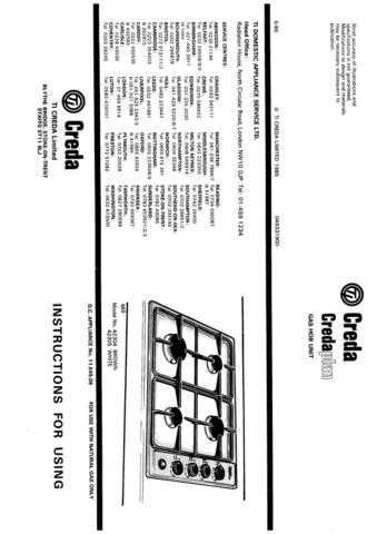 Creda 42305 Operating Guide by download Mauritron #312724