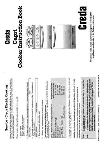 Creda HB49138 Operating Guide by download Mauritron #312933