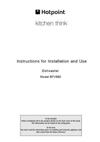 Hotpoint BFV-620 04202103 Dishwasher Operating Guide by download Mauritron #313512