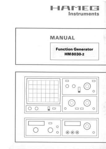 Hameg HM8030 2 Operating Guide by download Mauritron #307249