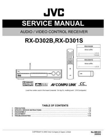 JVC RX-D302B-RX-D301S Service Manual by download Mauritron #276543