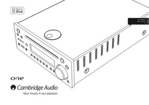 Cambridge Audio AP242532CAOneDX1UserManual01En by download Mauritron #311799