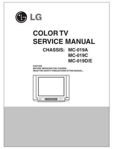 LG MC019D ckt diagram Manual by download Mauritron #305493