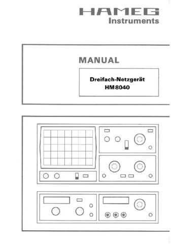 Hameg HM8040_d_e_f_s Operating Guide in French by download Mauritron #309883