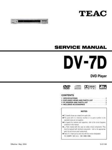 Teac DV3100VK Service Manual by download Mauritron #319364