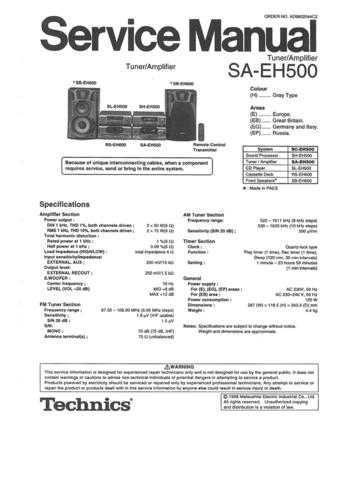 Panasonic SA-EH750 Manual by download Mauritron #301683