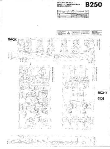 Revox B250 Circuit Diagram Schematics by download Mauritron #312234