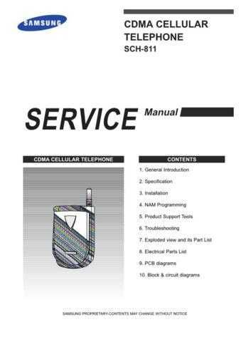Samsung SCH-811 Mobile Phone Service Manual by download Mauritron #306252