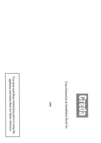 Creda HB49502 Operating Guide by download Mauritron #312947