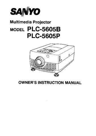 Sanyo. PLC-5605B Operating Guide. CDC-1505 by download Mauritron #312265
