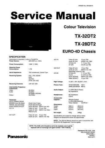 Panasonic TX-29AD70DP Manual by download Mauritron #302528