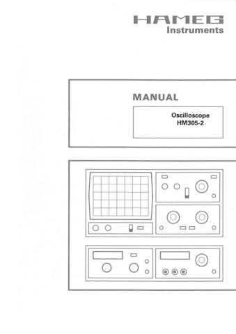 Hameg HM305 2 Operating Guide by download Mauritron #307174