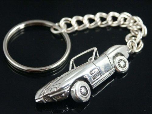 Corvette Stingray Key chain Sterling Silver