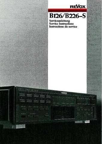 Revox B126 B226-S Service Manual by download Mauritron #312221