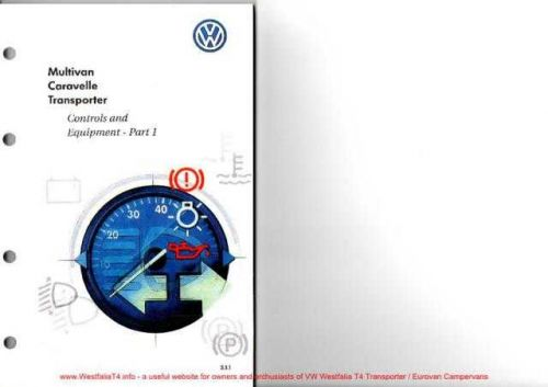 Volkswagen T4 2000 VW T4 Owners Handbook Part1WestfaliaWM by download #333808