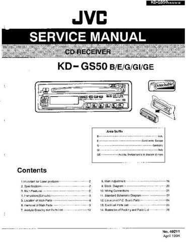 JVC KD-GS50 Service Manual by download Mauritron #282007