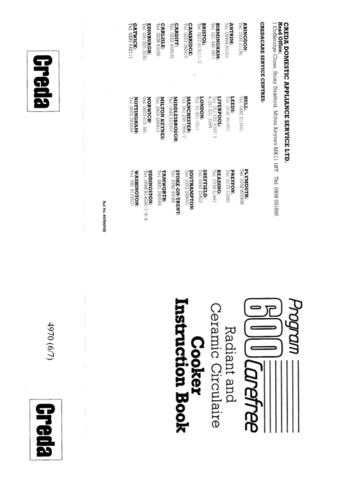 Creda 49707 Operating Guide by download Mauritron #312806