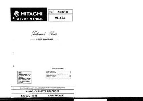 Hitachi TK-2248E Service Manual by download Mauritron #286305