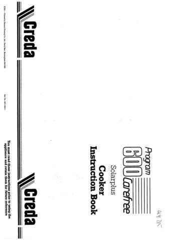 Creda 49715 Operating Guide by download Mauritron #312808