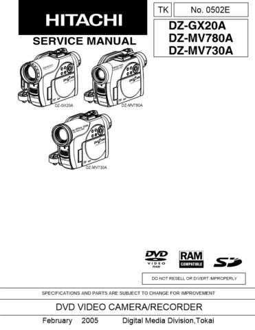 Hitachi DZ-BX35A Service Manual by download Mauritron #289934