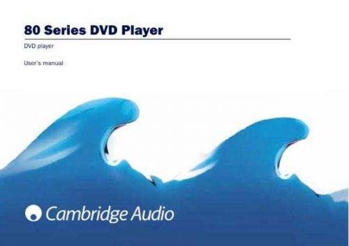 Cambridge Audio AzurDVD86-89UserManual-English(2) by download Mauritron #311823