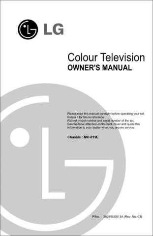 LG MANUAL_21FA2 CDC-2183 Manual by download Mauritron #305487