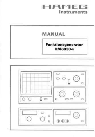 Hameg HM8030 4 Operating Guide in Spanish by download Mauritron #307251