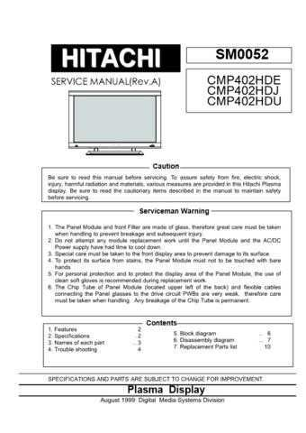 Hitachi CMP-4121HD(CMP-420)42PMA-400 Service Manual by download Mauritron #289033