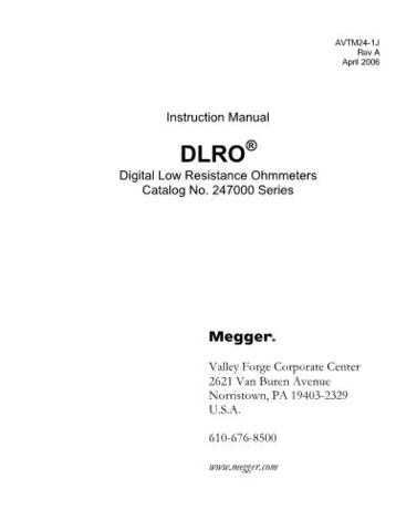 Biddle DLRO Series Operating Guide by download Mauritron #309662