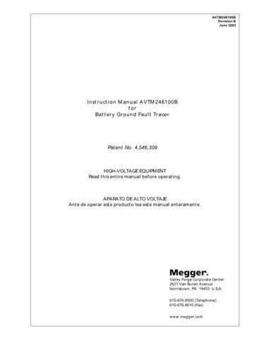 AVO AVTM6514J Operating Guide by download Mauritron #308890
