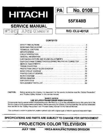 Hitachi PA0108 Service Manual by download Mauritron #323219
