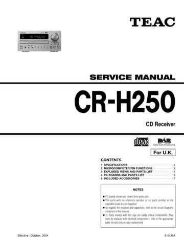 Teac CR-H226_smpl Service Manual by download Mauritron #319327