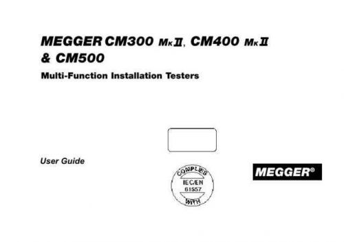 Biddle CM-500 Operating Guide by download Mauritron #309596