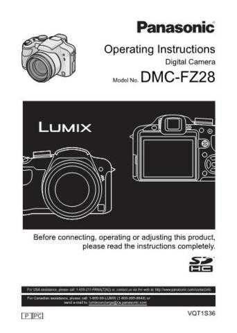 Panasonic DMC-FZ28 Camera Operating Guide by download Mauritron #306148